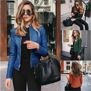 Herbst- und Winter-Damenmantel-Jacke Leder-Kleidung Lässige Mode Damen Oberbekleidung Kleidung Frauenjacken S-XXXL