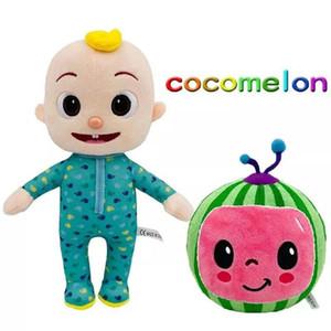 DHL 15-33CM Cocomelon Peluche Peluche Toy Soft Dessin animé Famille Cocomélon JJ Family Sœur Brother Maman et papa Toy Dall Dall Kids Chritmas Cadeaux