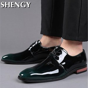 New Fashion Men's Dress Shoes Brand Leather Pointed Toe Outdoor Oxfords Classic Business Formal Shoes Men Comforteble Zapatos