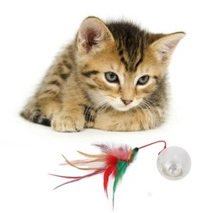 고양이 진동 깜박임 빛 Drawstring 깃털 깃털 텀블러 볼 장난감 모든 종류의 애완 동물에 적합