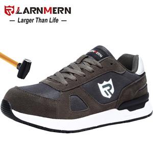 LARNMERN Men's Work Safety Shoes Steel Toe Construction Sneaker Breathable Lightweight Anti-smashing Anti-static Non-slip shoe 201125