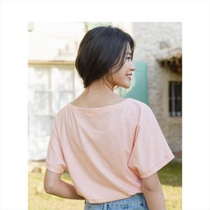 2020 Summer New Arrival Elastic Cotton Round Collar Batwing Sleeve Flower Printed Literary T shirt Drop Shipping