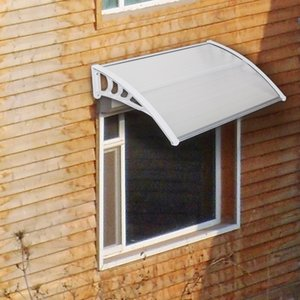 100x80cm Eaves Canopy Canopy Outdoor Clear Door Window Window Cover Eaves Transparent Board Rain Neve Protection Porta finestra Placking Stacket Sale