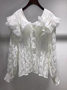 Рубашки женские блузки K11419 мода 2021 взлетно-посадочная полоса роскошный европейский дизайн вечеринка в стиле одежда
