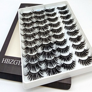 Hot Selling 10 30 100 boxes 3D mink lashes Natural False Eyelashes Long Messy Makeup Fake EyeLashes Extension Make Up Beauty Tools maquiagem
