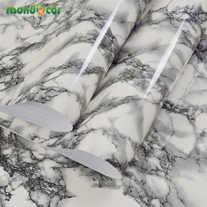 3M Marble Waterproof Vinyl Self adhesive Wallpaper Sticker Modern Contact Paper for Kitchen Cupboard Living Room Wall Stickers Z1118
