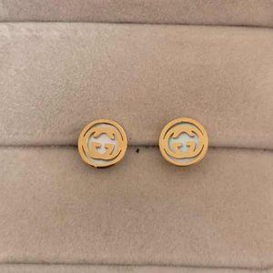 Top Quality Small Size Stile carino Shell Shell Moda Donna Orecchini Gold Silver Rose Ear Stuss Orecchini in acciaio inox per donne Regali all'ingrosso