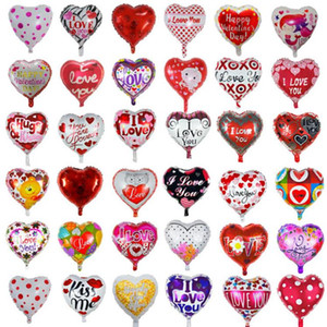Valentines Day Party Balloons Heart Shaped Balloon I Love You Aluminum Film Balloon Wedding Party Decoration 9 Designs YG983