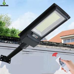 300 W 600 W Güneş Sokak Işık 492/966 LED Dış Aydınlatma Duvar Lambası Güneş Enerjili Radar Hareket Işık Kontrolü için Bahçe Yard Için Kutup