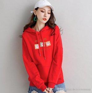 스웨터 여성 까마귀 핑크 블랙 플러스 사이즈 스웨트 후드 여성 여성용 긴 소매 hoody 가을 후드 스웨터