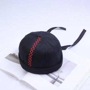 Coton d'automne pour hommes Crullies sans bride Capuchon Vintage Urban Unique Street Docker Hats Purpose Miki Miki Femmes Bonnet Cap1