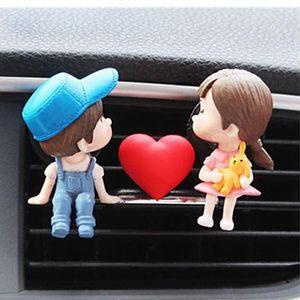Lovely Girl Boy Car Air Vent Freshener Perfume Clip Aromatic Diffuser Set Decor GXMA