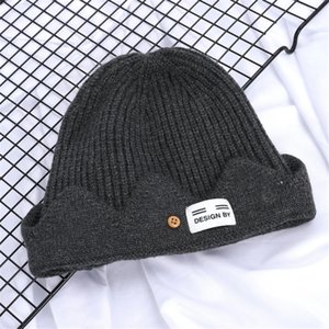 Winter Women Knitted Thick Beanies Letter Pom Pom Fur Ball Hat Warm Wool Unisex Crochet Skull Beanie Female Ski Fleeced S#115