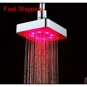 Hot Sale Bathroom Square Water Flow Adjustable Romantic Matic Led Shower Head For Bathr qylxgr bde_luck