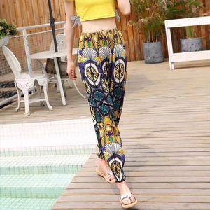2018 New Ethnic Style Bohemian Thailand Lantern Pants Beach Pants Female Summer Cotton Silk Harem Casual Thin Vintage