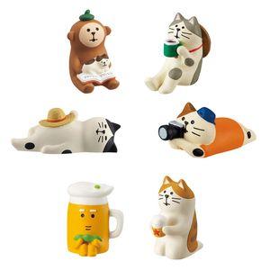 1 ADET Japon Sıcak Satış Minyatür Kawaii Hayvan Gıda Figürinler DIY El Sanatları Kek Topper Dollhouse Aksesuarları Çocuklar Oyuncaklar Y0107 Oyna