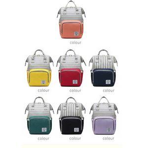 Mummy Diaper Bag Stripe Mommy Backpacks Large Capacity Travel Maternity Women Bags Baby Care Nursing Diaper Bag
