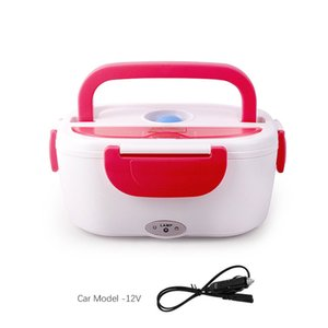 12V-24V 110V 220V Electric Heated Lunch Box Portable 2 in 1 Car& Home US Plug EU Plug Bento Boxes Stainless Steel Food Container C0125