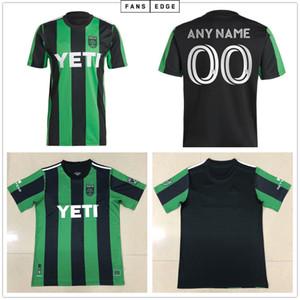 2020 2021 Austin FC Soccer Jerseys Nouveau MLS Inaugural MLS 21 22 Home Black Green Bold Dario Conca Kleber Xavier Baez Personnaliser Chemises de football
