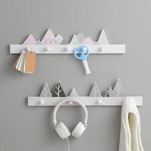 Home Decor Cartoon Wood Key Holder Clothes Storage Hook Wall Hanging Hanger Hooks Coat Hooks Rack Key Hanger Accessories