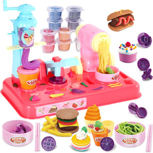 Children DIY Plasticine Noodle Maker Ice Cream Machine Mold Play Toy Fun Modeling Clay Dough Playset For Girls And Boys #10 LJ201009