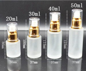 20ml 30ml 40ml 50ml Frosted Glass Bottle Lotion Mist Spray Pump Bottles Cosmetics Sample Storage Containers Jars Pot Party Favor GGA3832-2