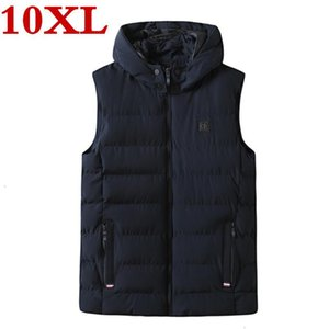 new big plus size 10XL 9XL 8XL high qualit Men's cotton vest winter Men's fashion vest casual warm Large size jackets