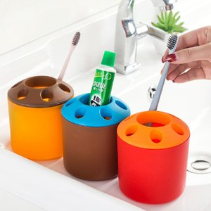 Multifunctional Standing Toothbrush Holder Couple Creative Toothbrush Holder Toothpaste Mouthwash Desktop Pen Holder Rack CCD3391