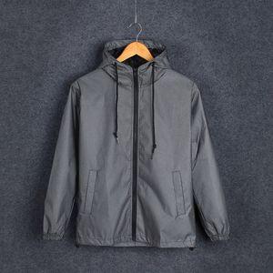 Autumn Men's Glow-up Trench Coat Slim Fit Adolescente Deportes Casual Blazer Malla Reflective Chaqueta