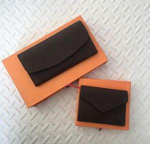2021 Nuevas bolsas de diseñador Envío gratis Billfold Patrón de alta calidad Mujeres Wallet Hombres Pures Monedero de lujo de alta gama S Diseñador Wallet con caja de la caja