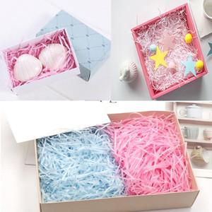 100 g / pack multi colore tagliuzzato credulone carta confetti confetti regalo cestino filler lafite tagliuzzato carta da sposa tessuto
