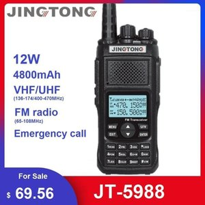 Walkie Talkie 2021 Jingtong JT-5988 12W CB Radio Transceiver VHF UHF Woki Toki Powerfu, чем Baofeng UV-9R плюс HAM Station1