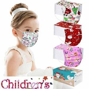 Mode Weihnachten Kind Party Maske Einweghohe Qualität Vlies Gesichtsmaske 3ply Ohrhörer Bandage staubfestes Masque Cover FY0103