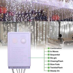 Hot sale 1200-LED Warm White Light Romantic Christmas Wedding Outdoor Decoration Curtain String Light US Standard Warm White ZA000935