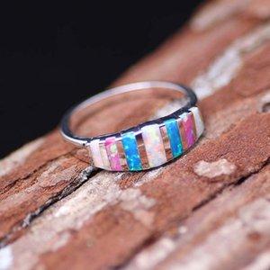 Best Selling Europe and America Artificial Opal Lega di lega di colore anelli donne anelli di matrimonio accessori gioielli gioielli moda gioielli