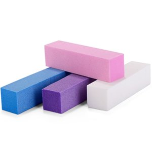 10 teile / satz 100/180 nail art puffer block farbe zufällige fuß nails tipps pflege polierung puffing mahlen sanft sanft salon salon kit