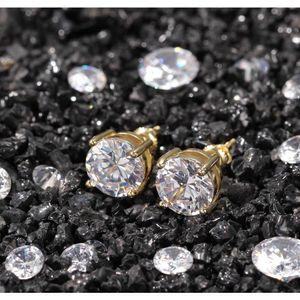 2020 Erkek Saplama Küpe Takı Yüksek Kalite Moda Yuvarlak Altın Gümüş Simüle Diamon SQCSJB HOMES2007