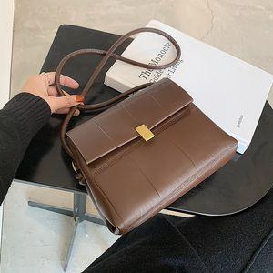 Simple Style Small PU Leather Crossbody Bag for Women 2020 Winter Branded Designer Shoulder Handbags Women's Trend Hand Bag