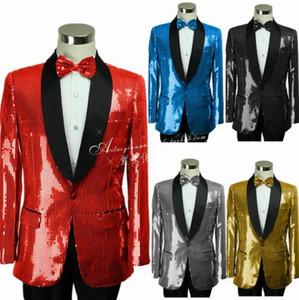 pantolon 2020 erkek düğün takım elbise kostüm resmi elbise kravat erkekler damat takım elbise seti için Singer yıldız tarzı sahne payetler giyim