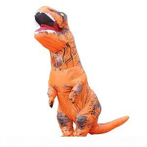 نفخ ديناصور موضوع زي بذلة كامل الجسم هالوين تأثيري الخيال الملابس للأطفال في سن المراهقة الكبار قفازات مروحة شملت