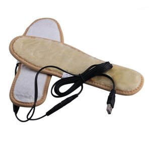 Новые зимние теплые электрически подогревы стельки USB зарядки плюшевые меховые стельки Держите теплые футы для женской обуви1
