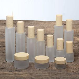 2 8pcs 20 30 50g Empty Makeup Cosmetic Face Cream Jar Pot 20 30 40 60 80 100 120ml Glass Toner Lotion Emulsion Bottle ABS Cover