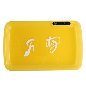 New Hotselling free shipping UPS Glow LED Rolling Light Up Rechargeable Party rolling Tray, Manually Change Light Colors