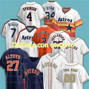 27 Jose Altuve 2 Alex Bregman George Springer ASTROS JERSEY 1 Carlos Correa 7 Craig Biggio 34 Nolan Ryan 21 Zack Greinke Baseball Jerseys
