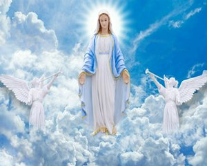 Catholic picture OUR LADY IN GLORY SH Home Decoration Handcrafts  HD Print Oil Painting On Canvas Wall Art Canvas Pictures 201124
