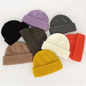 knitted Korean version hat casual solid women winter beanie autumn warm hip hop skullies beanie outdoor sports ski Melon cap dropship