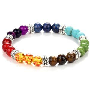 Charm 7 Chakra Lion Bracelet Men Black Lava Healing Balance Beads Reiki Buddha Prayer Natural Stone Bracelet Women Drop Shipping