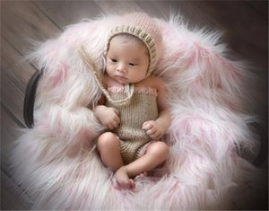 Girls Design Hat + Pant Set Newborn Baby Photography Props Knitted Woolen Costume Baby Photo Crochet Outfits Infant Clothes