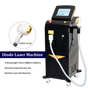 Platin Ice Alex Laser Haarentfernungsmaschine Ganzkörper Haarentfernung Sopranium Titanium Brasilianische Laser Haarentfernung Schmerzfreunden
