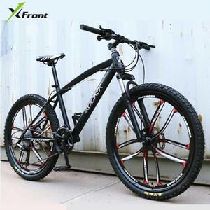 Nova marca X-Front 24/26 polegada Frame de aço carbono 24/27 velocidade ao ar livre em declive Bicicleta de bicicleta de bicicleta de montanha freio de disco MTB Bicicleta1